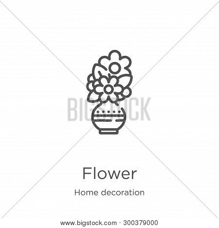 Flower Icon Isolated On White Background From Home Decoration Collection. Flower Icon Trendy And Mod