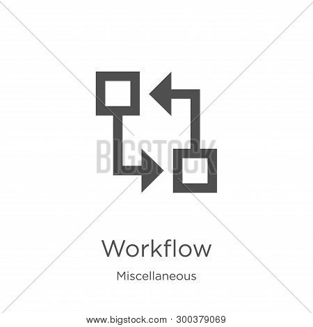 Workflow Icon Isolated On White Background From Miscellaneous Collection. Workflow Icon Trendy And M