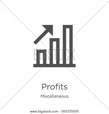 Profits Icon Isolated On White Background From Miscellaneous Collection. Profits Icon Trendy And Mod