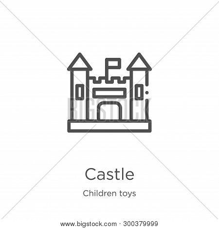 Castle Icon Isolated On White Background From Children Toys Collection. Castle Icon Trendy And Moder