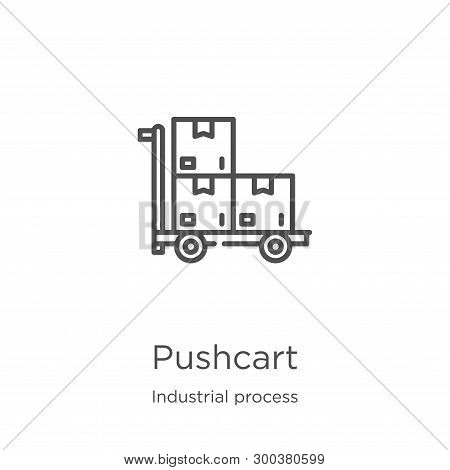Pushcart Icon Isolated On White Background From Industrial Process Collection. Pushcart Icon Trendy