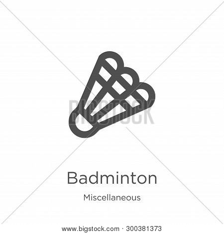 Badminton Icon Isolated On White Background From Miscellaneous Collection. Badminton Icon Trendy And