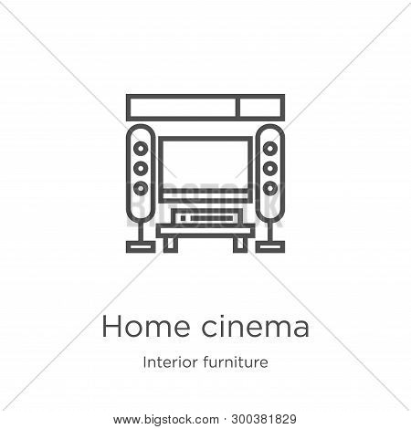 Home Cinema Icon Isolated On White Background From Interior Furniture Collection. Home Cinema Icon T
