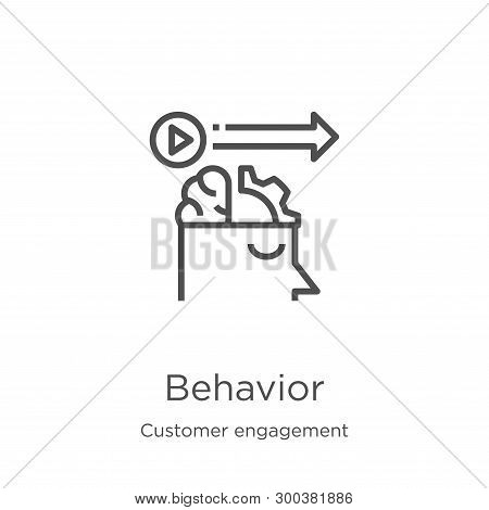 Behavior Icon Isolated On White Background From Customer Engagement Collection. Behavior Icon Trendy
