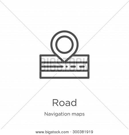 Road Icon Isolated On White Background From Navigation Maps Collection. Road Icon Trendy And Modern