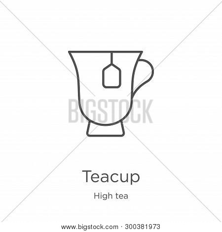 Teacup Icon Isolated On White Background From High Tea Collection. Teacup Icon Trendy And Modern Tea