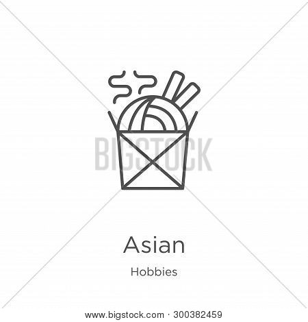 Asian Icon Isolated On White Background From Hobbies Collection. Asian Icon Trendy And Modern Asian
