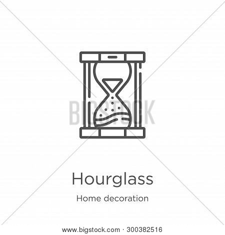 Hourglass Icon Isolated On White Background From Home Decoration Collection. Hourglass Icon Trendy A