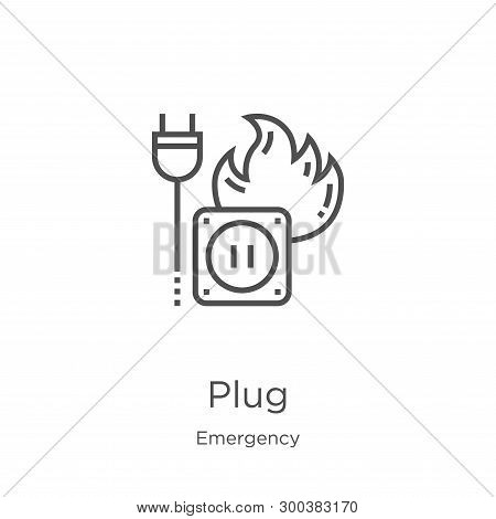 Plug Icon Isolated On White Background From Emergency Collection. Plug Icon Trendy And Modern Plug S
