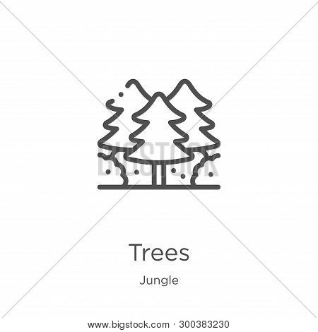 Trees Icon Isolated On White Background From Jungle Collection. Trees Icon Trendy And Modern Trees S