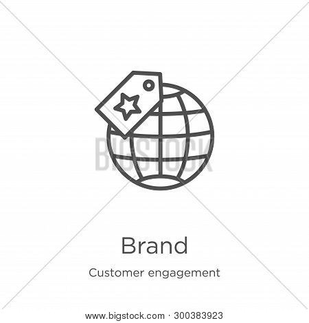 Brand Icon Isolated On White Background From Customer Engagement Collection. Brand Icon Trendy And M