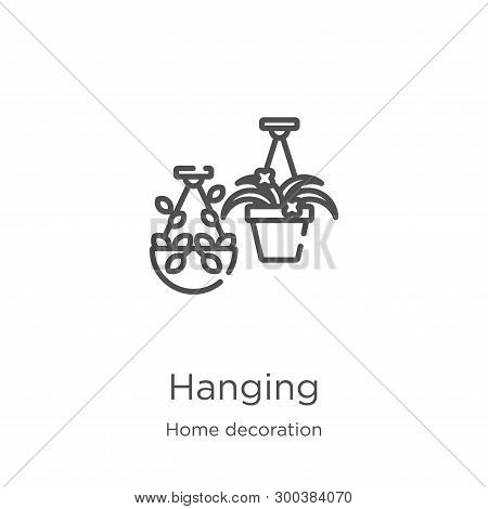 Hanging Icon Isolated On White Background From Home Decoration Collection. Hanging Icon Trendy And M