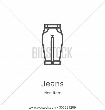 Jeans Icon Isolated On White Background From Men Item Collection. Jeans Icon Trendy And Modern Jeans