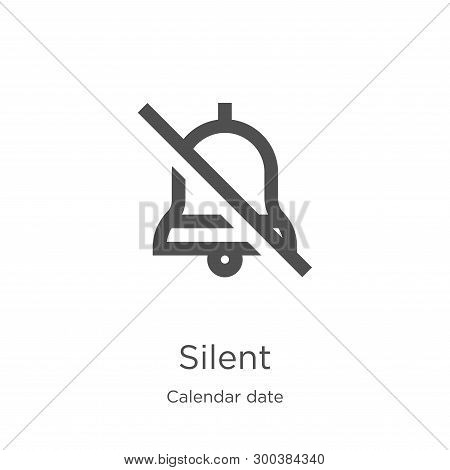 Silent Icon Isolated On White Background From Calendar Date Collection. Silent Icon Trendy And Moder