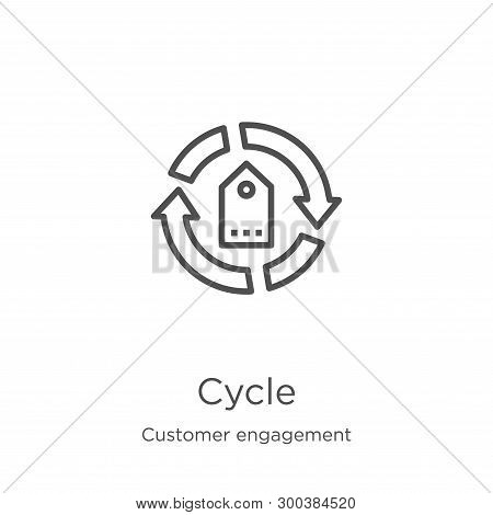 Cycle Icon Isolated On White Background From Customer Engagement Collection. Cycle Icon Trendy And M