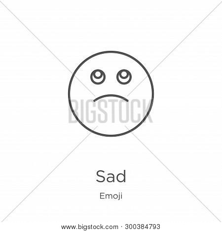 Sad Icon Isolated On White Background From Emoji Collection. Sad Icon Trendy And Modern Sad Symbol F