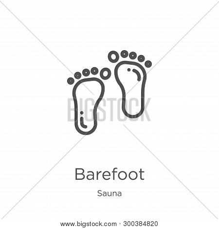Barefoot Icon Isolated On White Background From Sauna Collection. Barefoot Icon Trendy And Modern Ba
