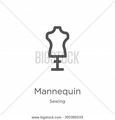 Mannequin Icon Isolated On White Background From Sewing Collection. Mannequin Icon Trendy And Modern