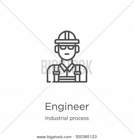 Engineer Icon Isolated On White Background From Industrial Process Collection. Engineer Icon Trendy