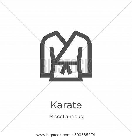 Karate Icon Isolated On White Background From Miscellaneous Collection. Karate Icon Trendy And Moder