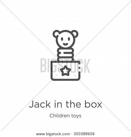 Jack In The Box Icon Isolated On White Background From Children Toys Collection. Jack In The Box Ico
