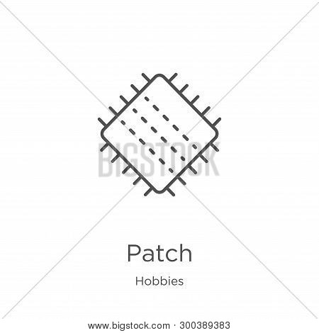 Patch Icon Isolated On White Background From Hobbies Collection. Patch Icon Trendy And Modern Patch