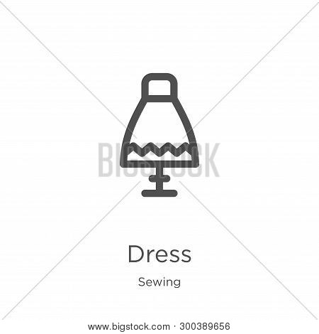 Dress Icon Isolated On White Background From Sewing Collection. Dress Icon Trendy And Modern Dress S