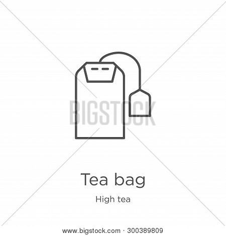 Tea Bag Icon Isolated On White Background From High Tea Collection. Tea Bag Icon Trendy And Modern T
