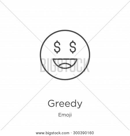 Greedy Icon Isolated On White Background From Emoji Collection. Greedy Icon Trendy And Modern Greedy