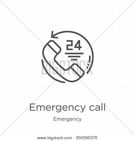 Emergency Call Icon Isolated On White Background From Emergency Collection. Emergency Call Icon Tren