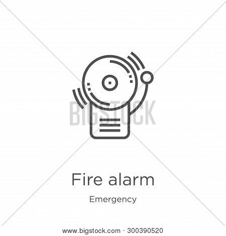Fire Alarm Icon Isolated On White Background From Emergency Collection. Fire Alarm Icon Trendy And M