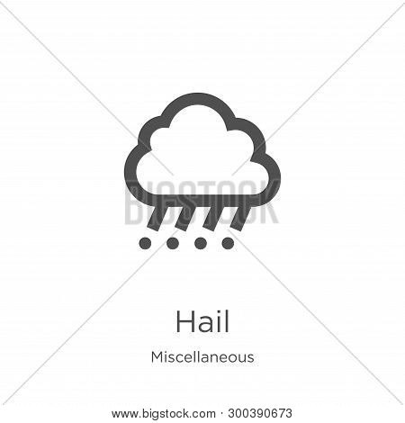 Hail Icon Isolated On White Background From Miscellaneous Collection. Hail Icon Trendy And Modern Ha