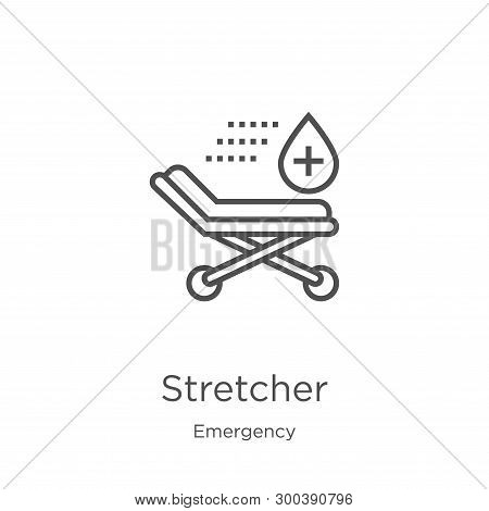 Stretcher Icon Isolated On White Background From Emergency Collection. Stretcher Icon Trendy And Mod