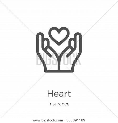 Heart Icon Isolated On White Background From Insurance Collection. Heart Icon Trendy And Modern Hear