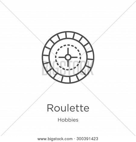 Roulette Icon Isolated On White Background From Hobbies Collection. Roulette Icon Trendy And Modern