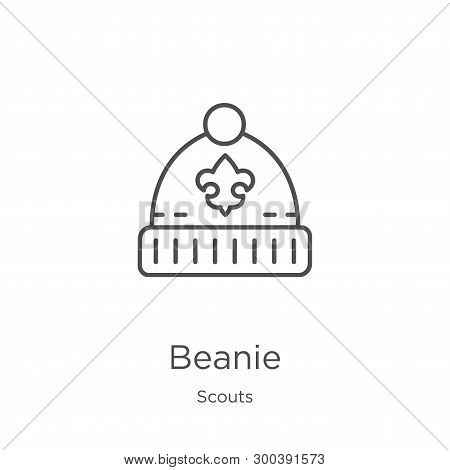 Beanie Icon Isolated On White Background From Scouts Collection. Beanie Icon Trendy And Modern Beani