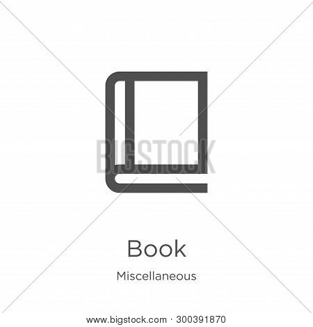 Book Icon Isolated On White Background From Miscellaneous Collection. Book Icon Trendy And Modern Bo
