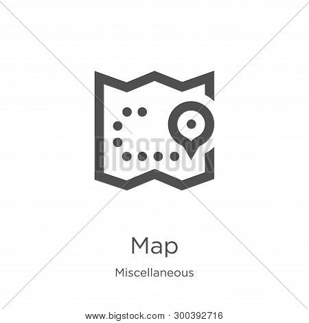 Map Icon Isolated On White Background From Miscellaneous Collection. Map Icon Trendy And Modern Map