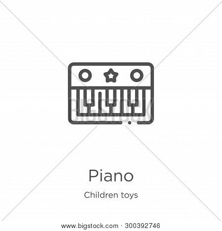 Piano Icon Isolated On White Background From Children Toys Collection. Piano Icon Trendy And Modern