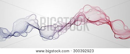 Biological Mutation, Microscopic Virus, Dotted Vector Particles Shape, Nano Technology. Abstract Flo