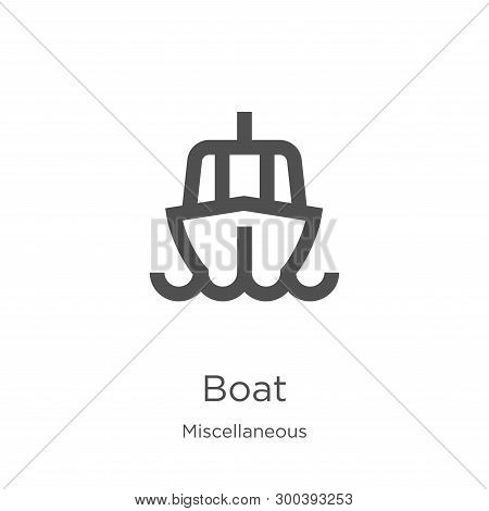 Boat Icon Isolated On White Background From Miscellaneous Collection. Boat Icon Trendy And Modern Bo