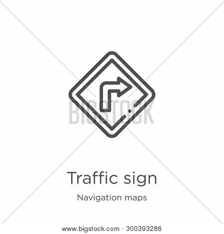 Traffic Sign Icon Isolated On White Background From Navigation Maps Collection. Traffic Sign Icon Tr