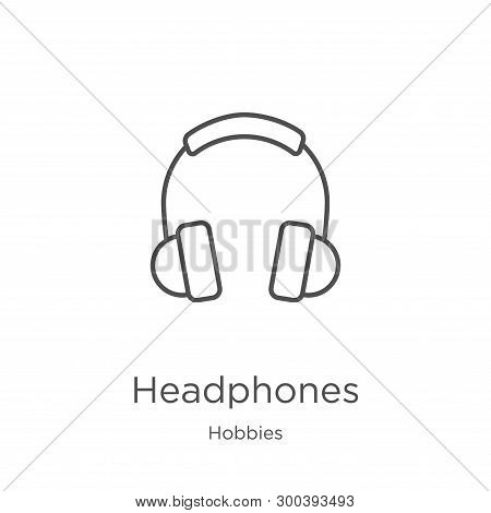 Headphones Icon Isolated On White Background From Hobbies Collection. Headphones Icon Trendy And Mod