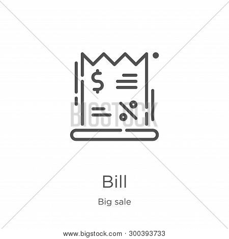 Bill Icon Isolated On White Background From Big Sale Collection. Bill Icon Trendy And Modern Bill Sy
