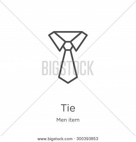 Tie Icon Isolated On White Background From Men Item Collection. Tie Icon Trendy And Modern Tie Symbo
