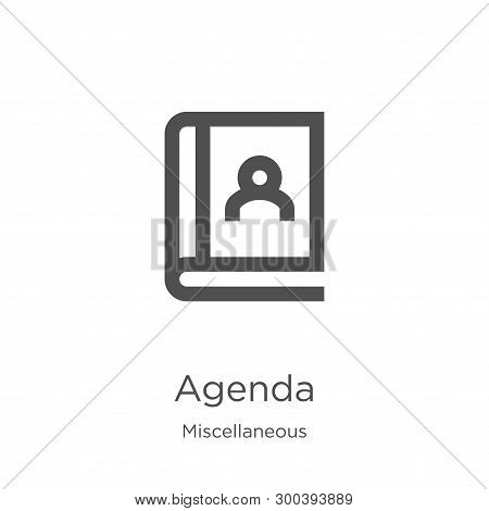 Agenda Icon Isolated On White Background From Miscellaneous Collection. Agenda Icon Trendy And Moder