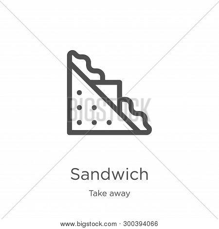 Sandwich Icon Isolated On White Background From Take Away Collection. Sandwich Icon Trendy And Moder