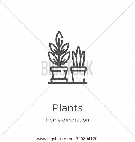 Plants Icon Isolated On White Background From Home Decoration Collection. Plants Icon Trendy And Mod