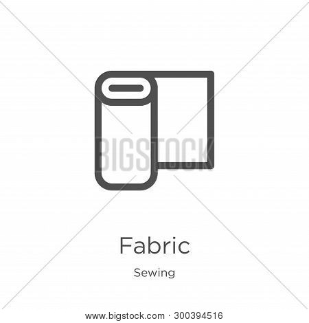 Fabric Icon Isolated On White Background From Sewing Collection. Fabric Icon Trendy And Modern Fabri