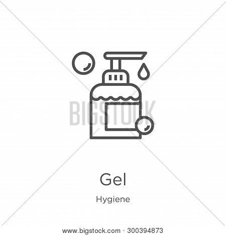 Gel Icon Isolated On White Background From Hygiene Collection. Gel Icon Trendy And Modern Gel Symbol